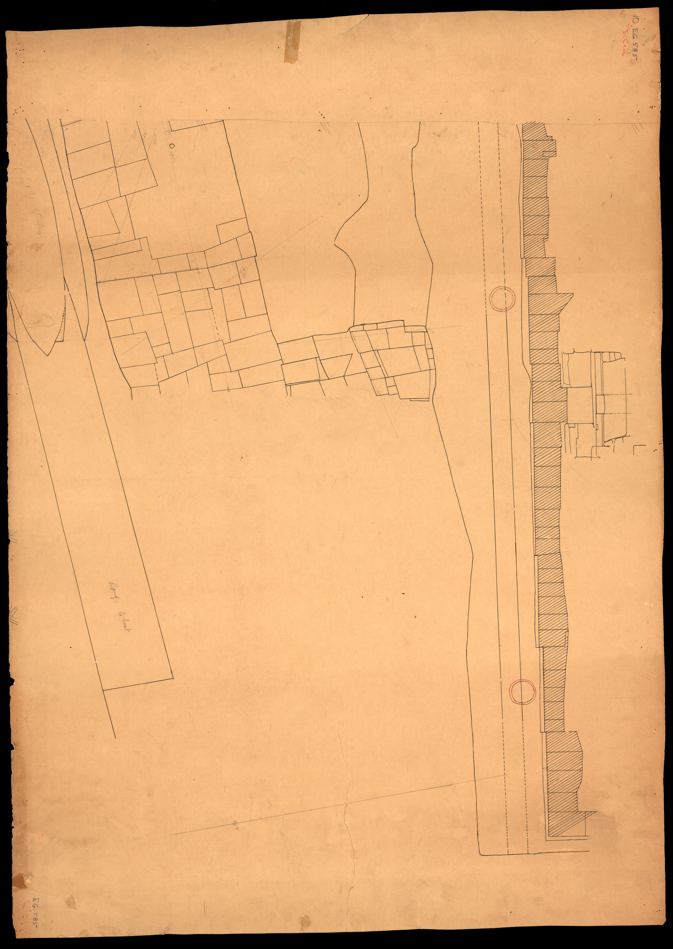 Maps and plans: Plan of Eastern cemetery: boat pit north of pyramid G I-a