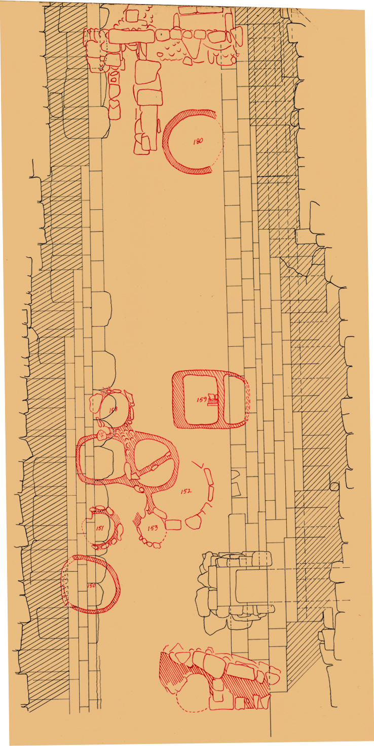 Maps and plans: Plan of Eastern cemetery: between pyramids G I-b and G I-c
