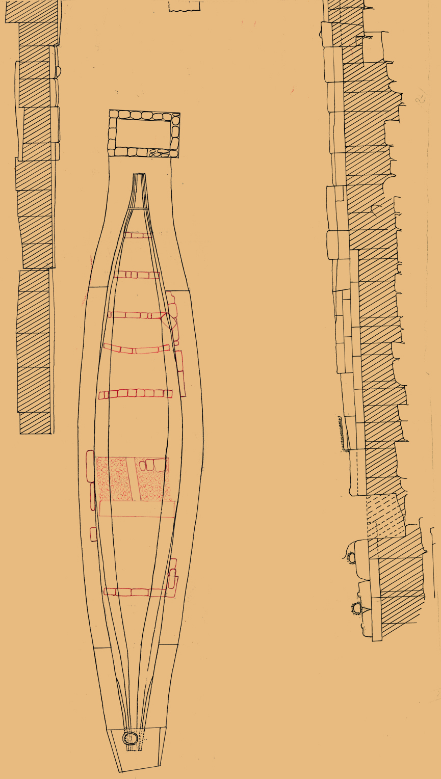 Maps and plans: Plan of Eastern cemetery: boat pit between pyramids G I-a and G I-b