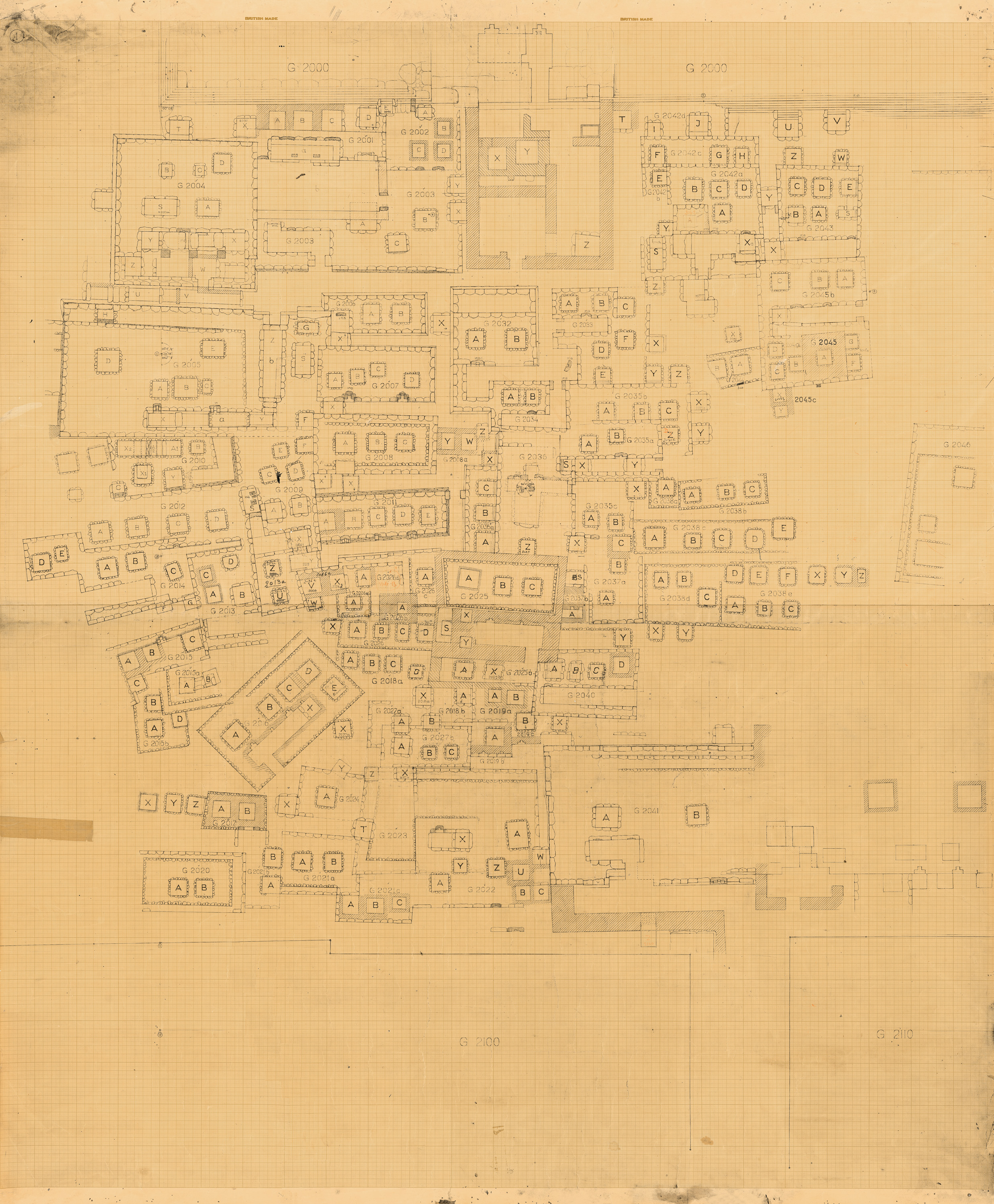 Maps and plans: Plan of Cemetery G 2000, W part