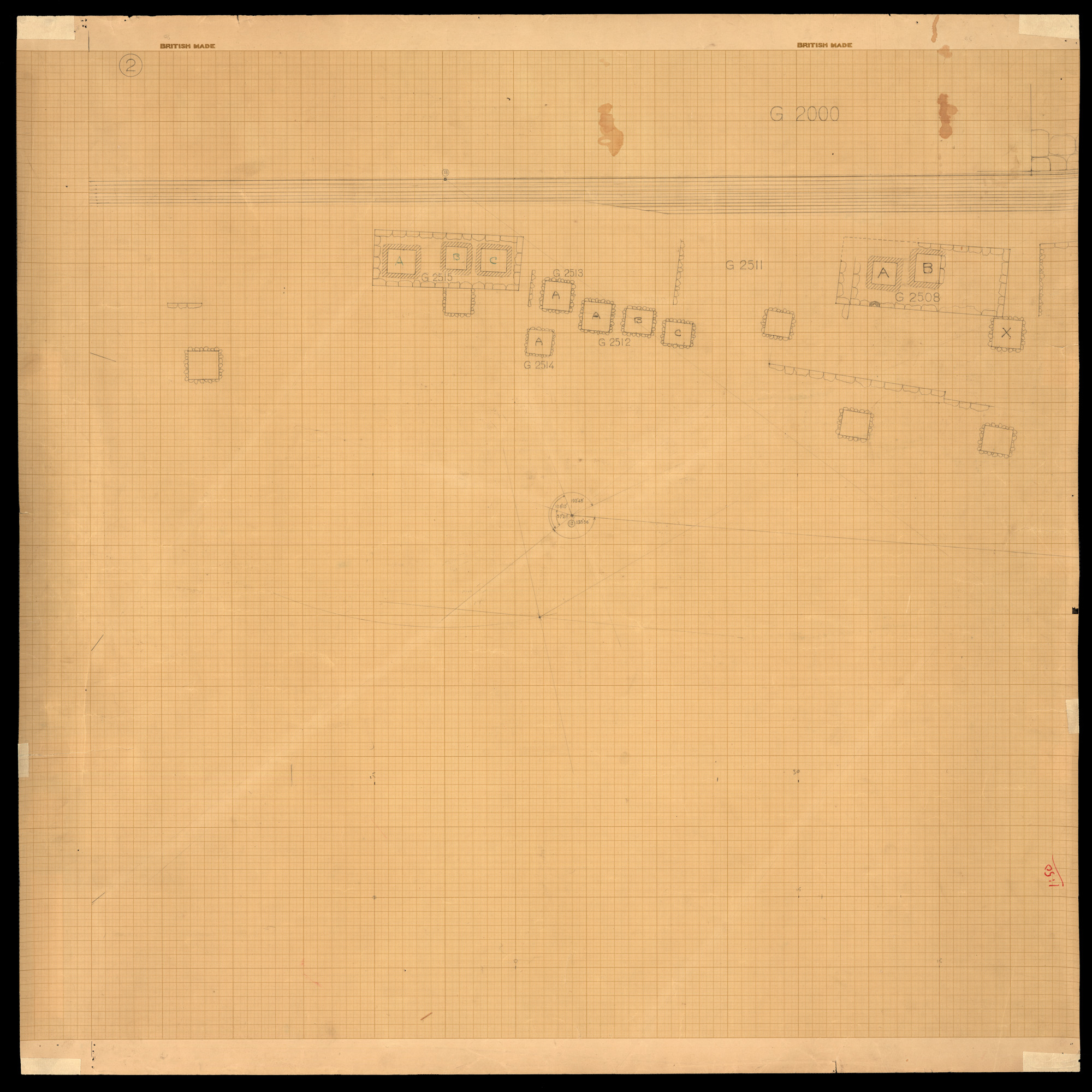 Maps and plans: Plan of cemetery G 2500