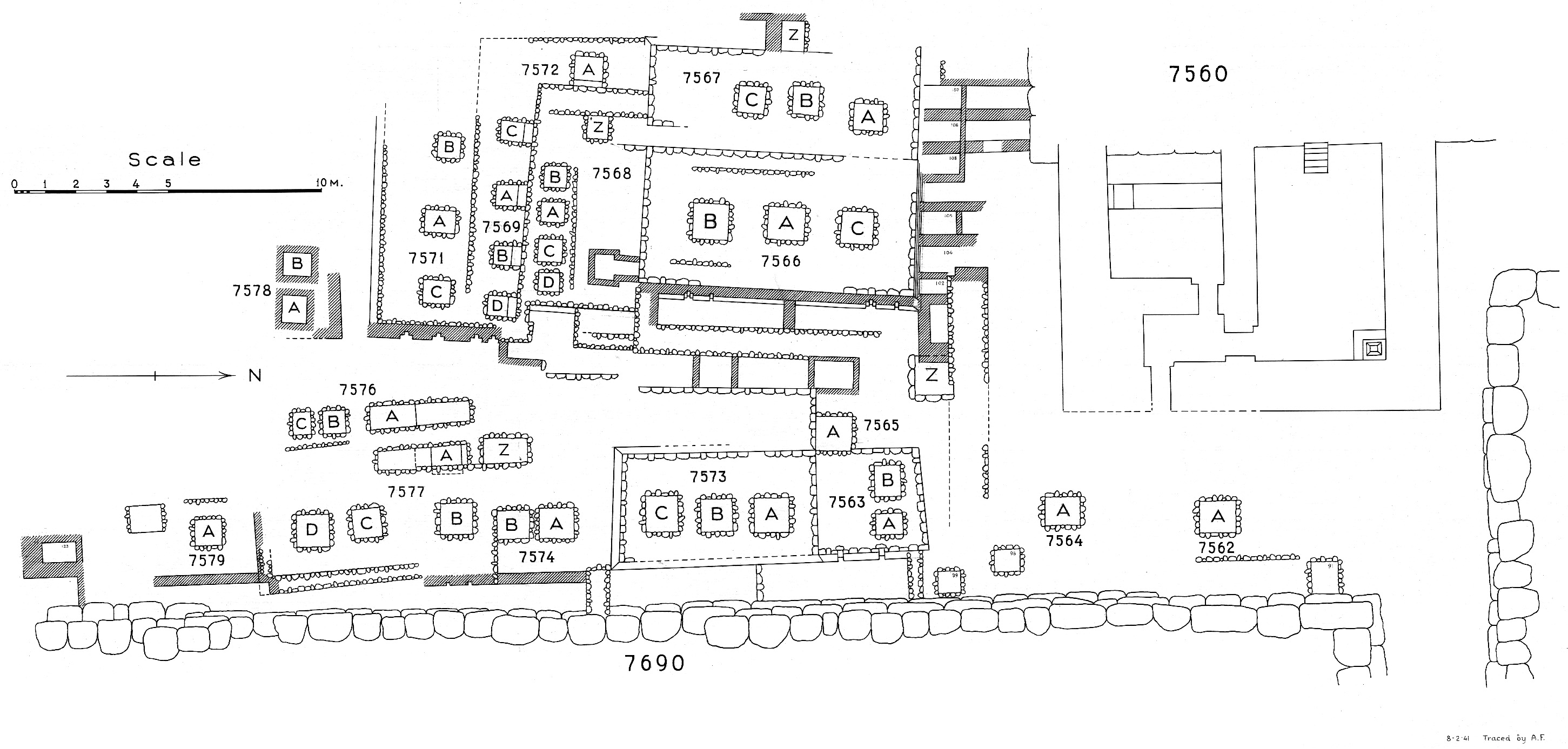 Maps and plans: Plan of cemetery G 7000: G 7500s