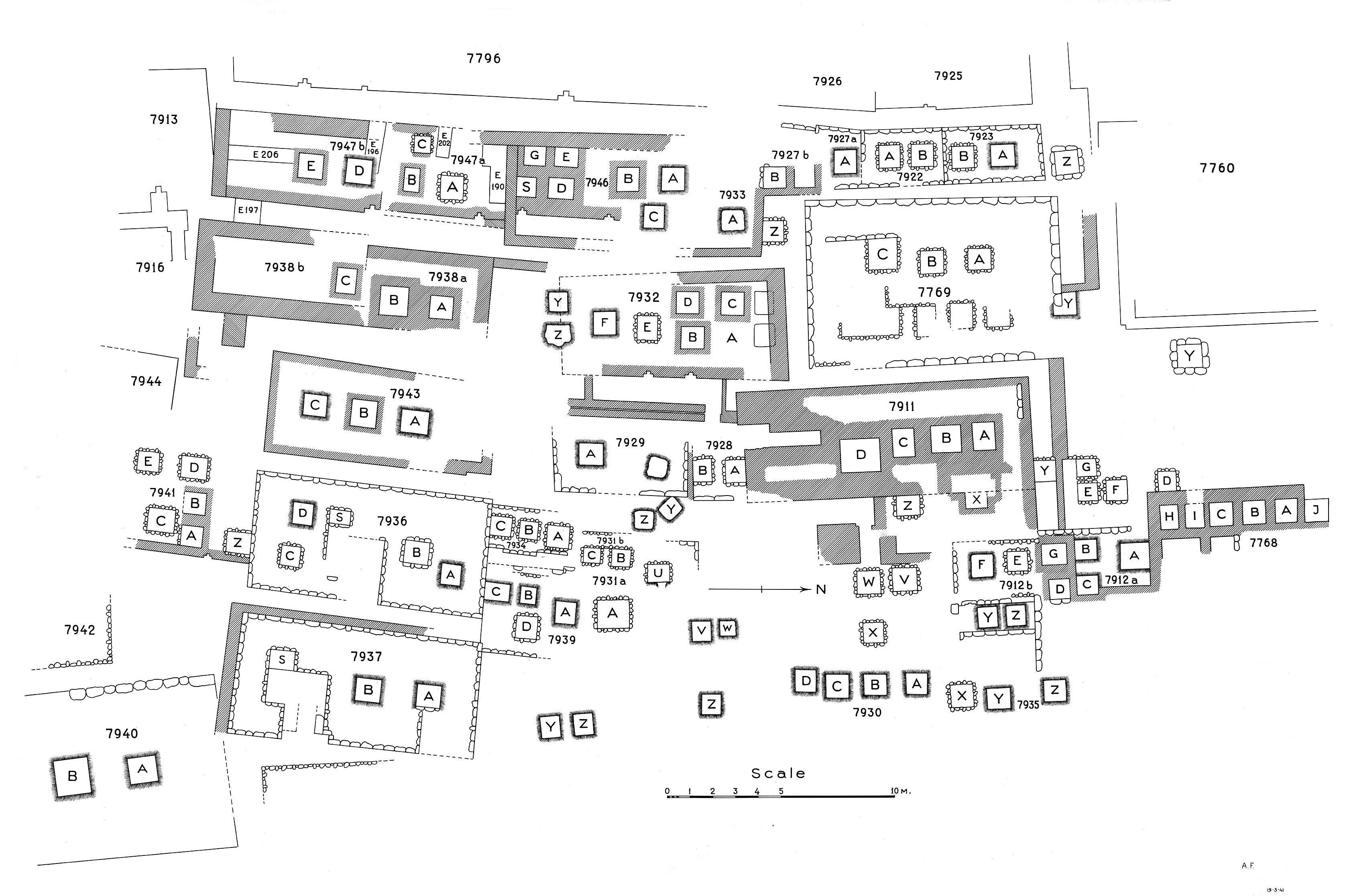Maps and plans: Plan of cemetery G 7000: G 7900s (2 of 2)