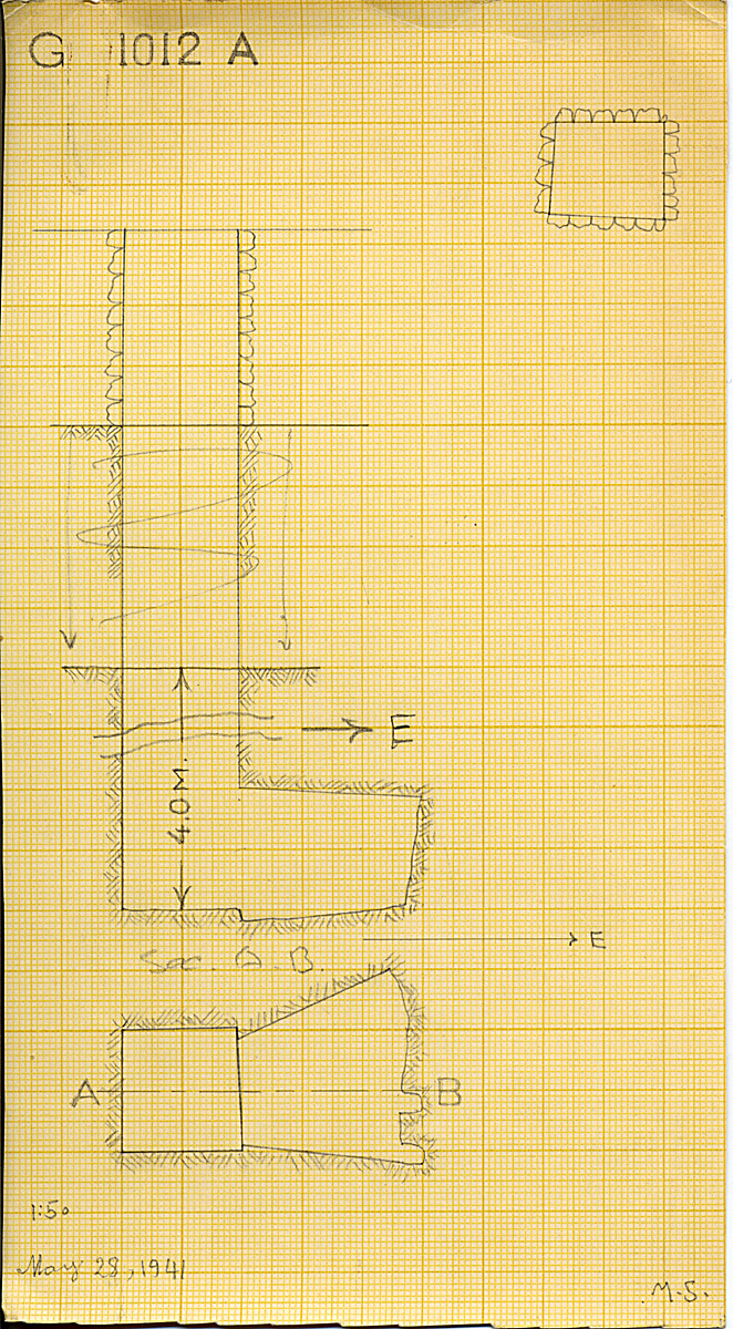 Maps and plans: G 1012, Shaft A (S 4584)