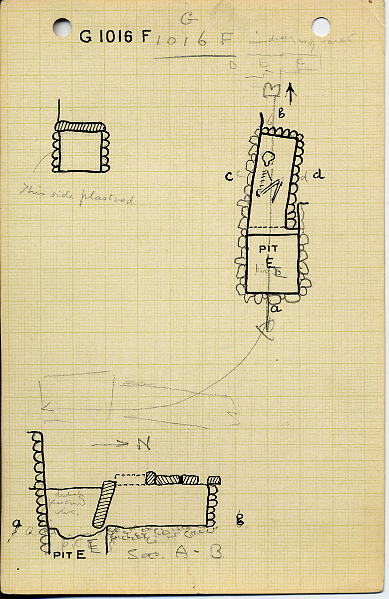 Maps and plans: G 1016, Shaft F
