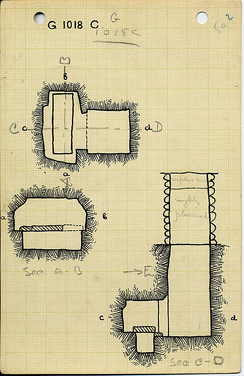 Maps and plans: G 1018, Shaft C