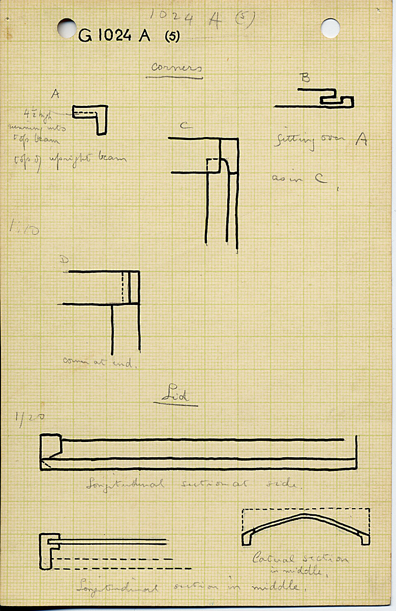 Drawings: G 1024, Shaft A, wood coffin