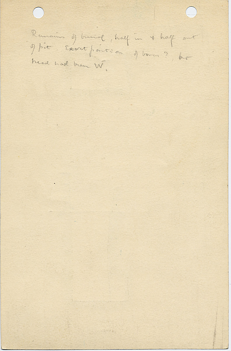 Notes: G 1033+1033a: G 1033a, Shaft E, notes