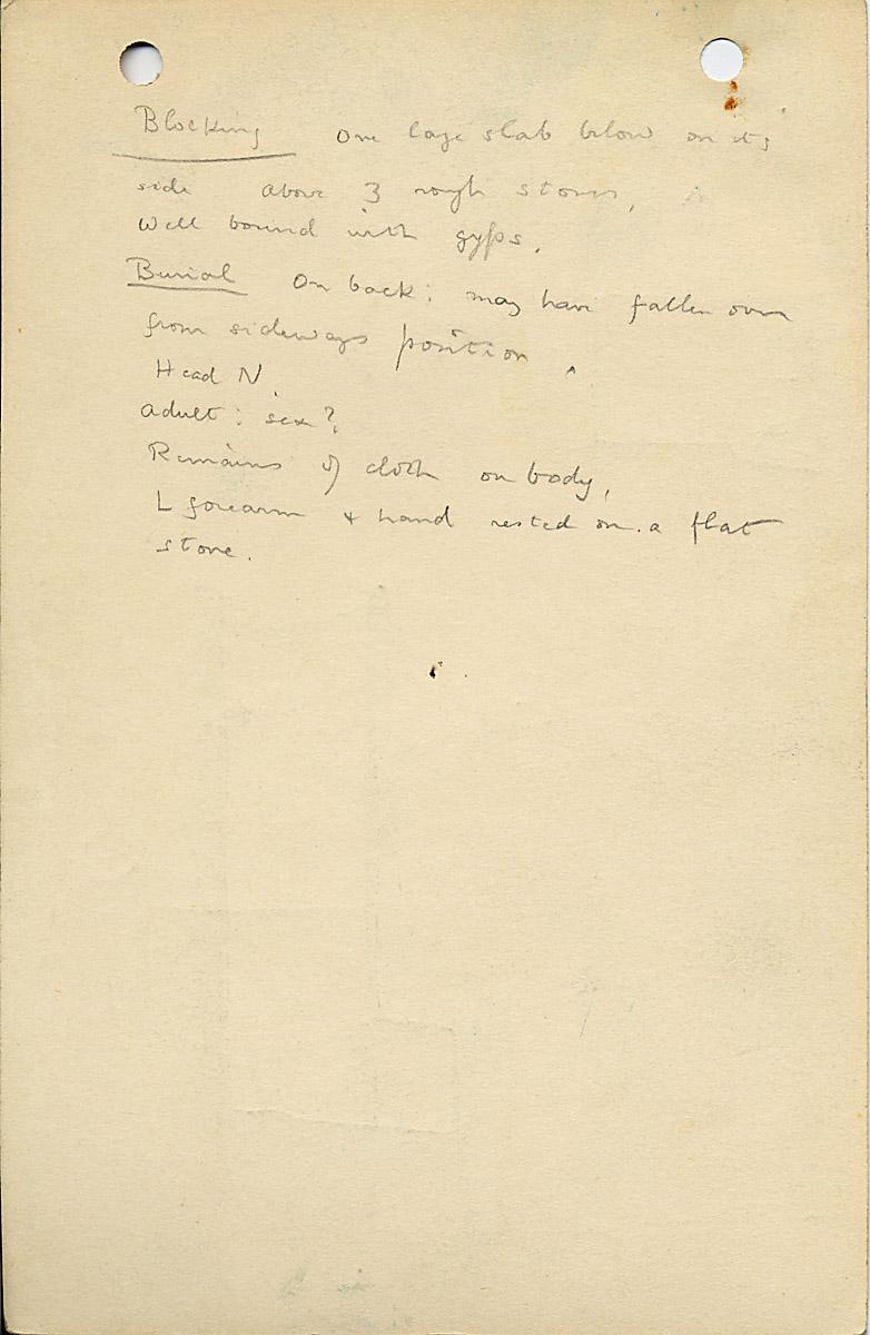 Notes: G 1037, Shaft B, notes