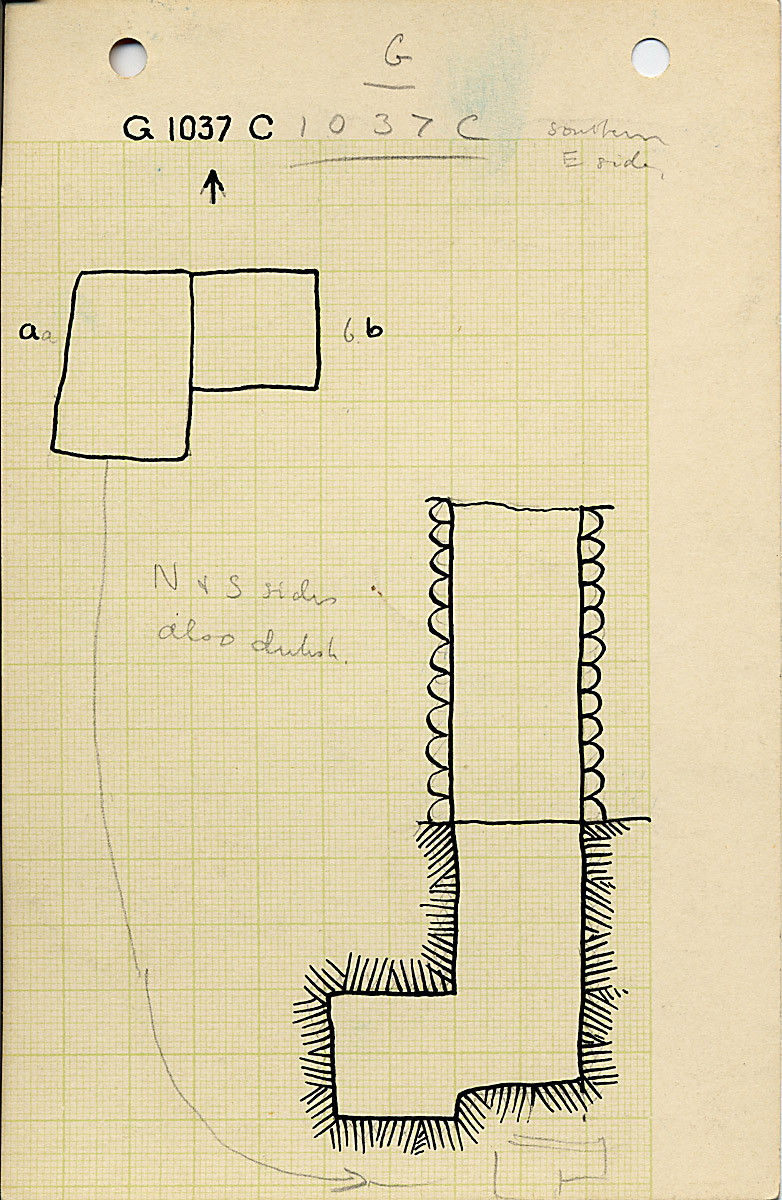 Maps and plans: G 1037, Shaft C