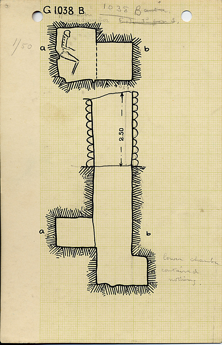 Maps and plans: G 1038, Shaft B