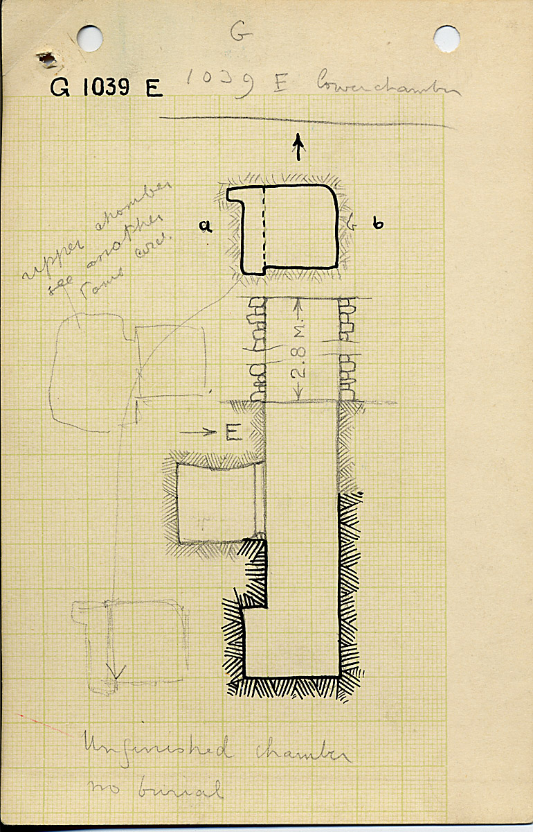 Maps and plans: G 1039, Shaft E (II)