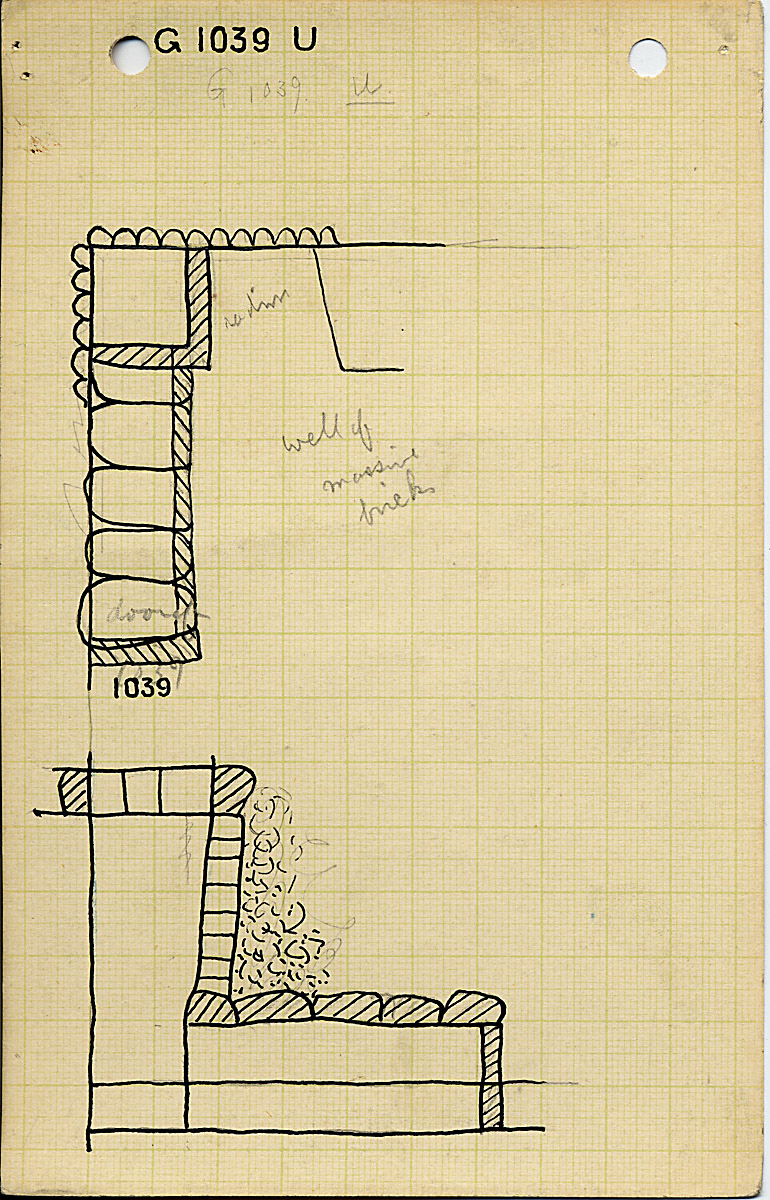Maps and plans: G 1039, Shaft U