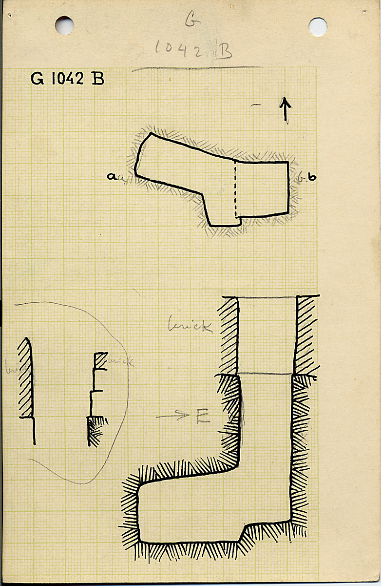 Maps and plans: G 1042, Shaft B