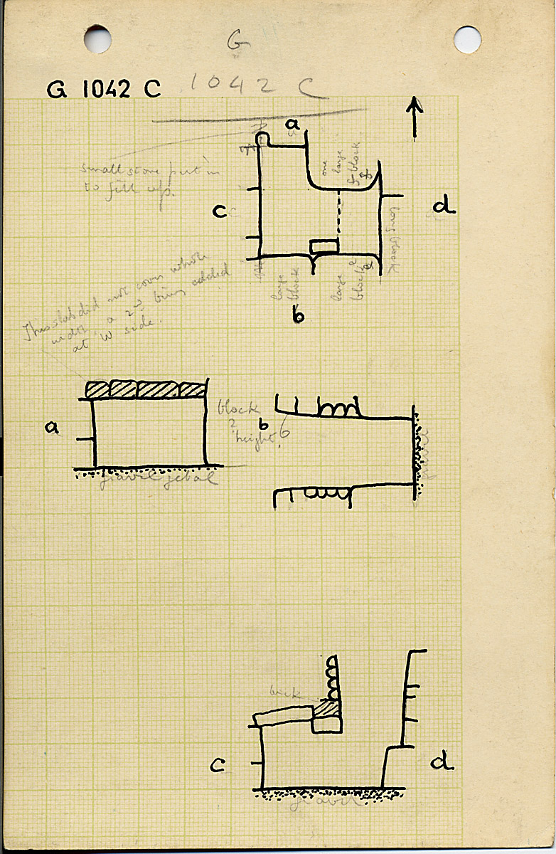 Maps and plans: G 1042, Shaft C