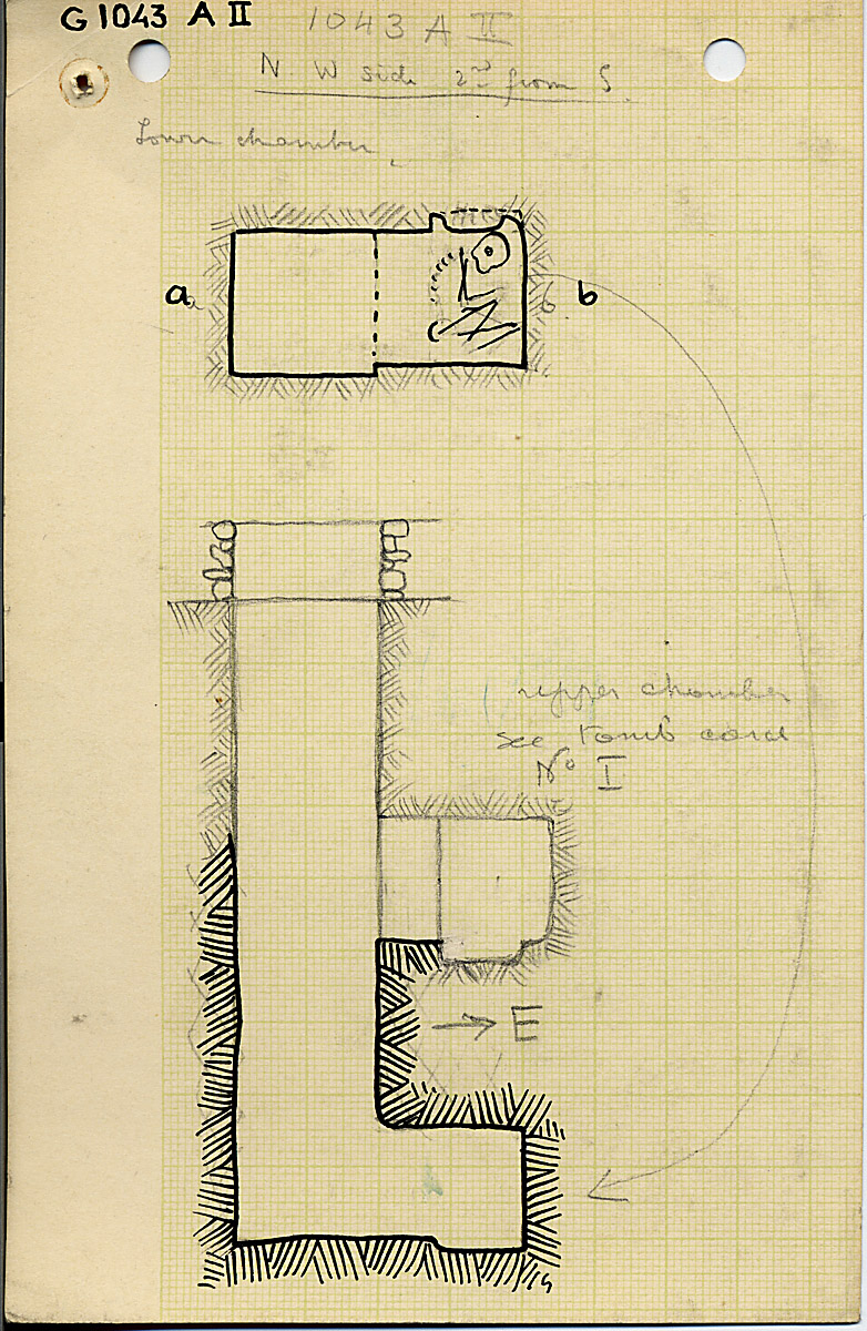 Maps and plans: G 1043, Shaft A (II)