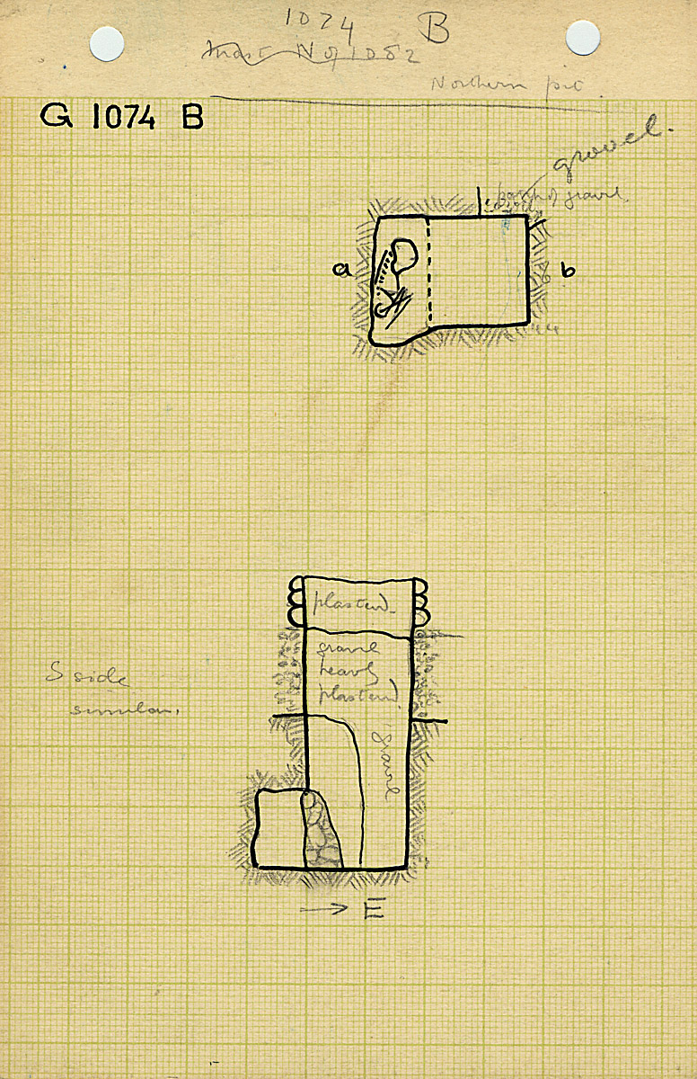 Maps and plans: G 1074, Shaft B