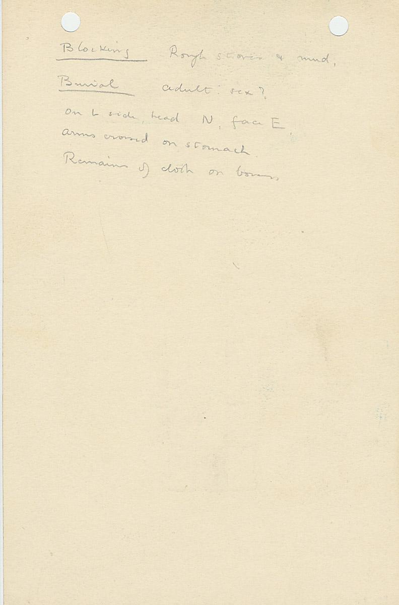 Notes: G 1074, Shaft B, notes