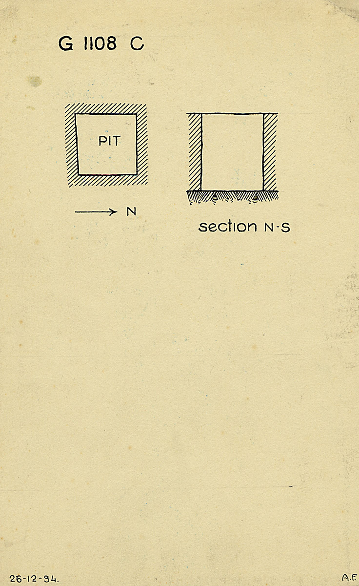 Maps and plans: G 1108, Shaft C