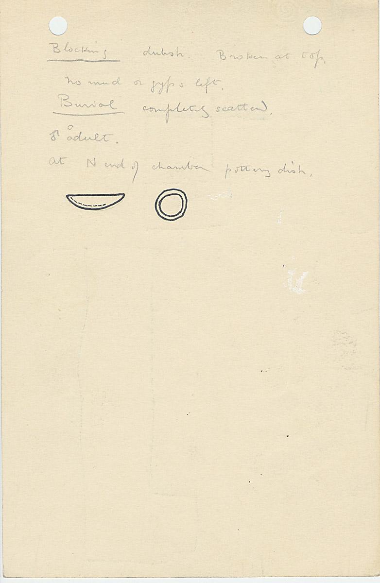 Notes: G 1110, Shaft D, notes