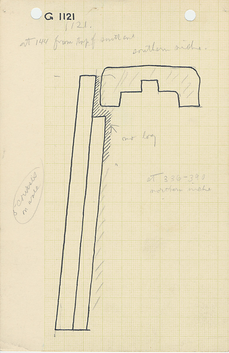 Maps and plans: G 1121, Plan and section of south niche