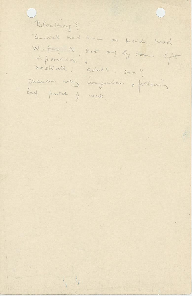 Notes: G 1123, Shaft B, notes