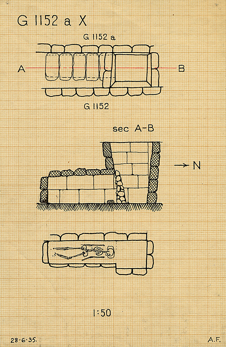 Maps and plans: G 1152a, Shaft X