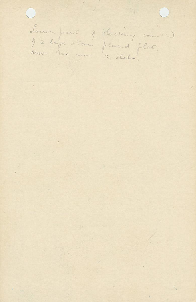 Notes: G 1153, Shaft B, notes