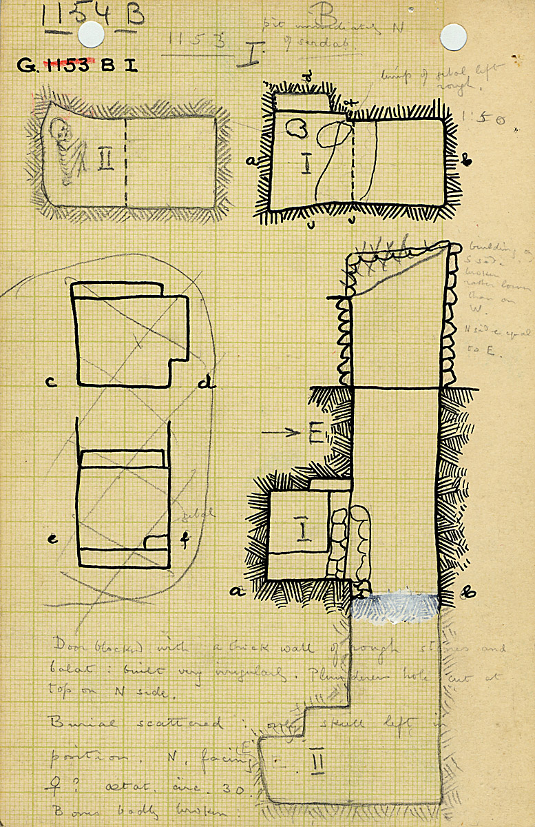 Maps and plans: G 1154, Shaft B (I)