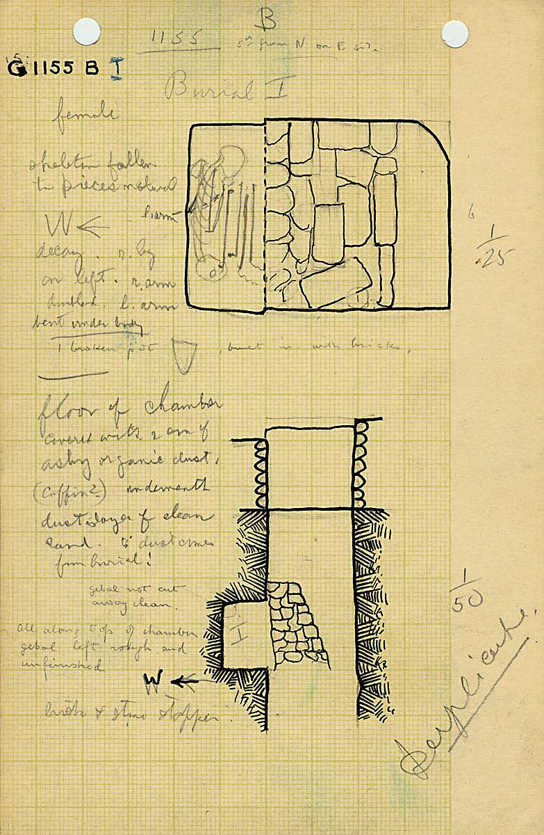 Maps and plans: G 1155, Shaft B (I)