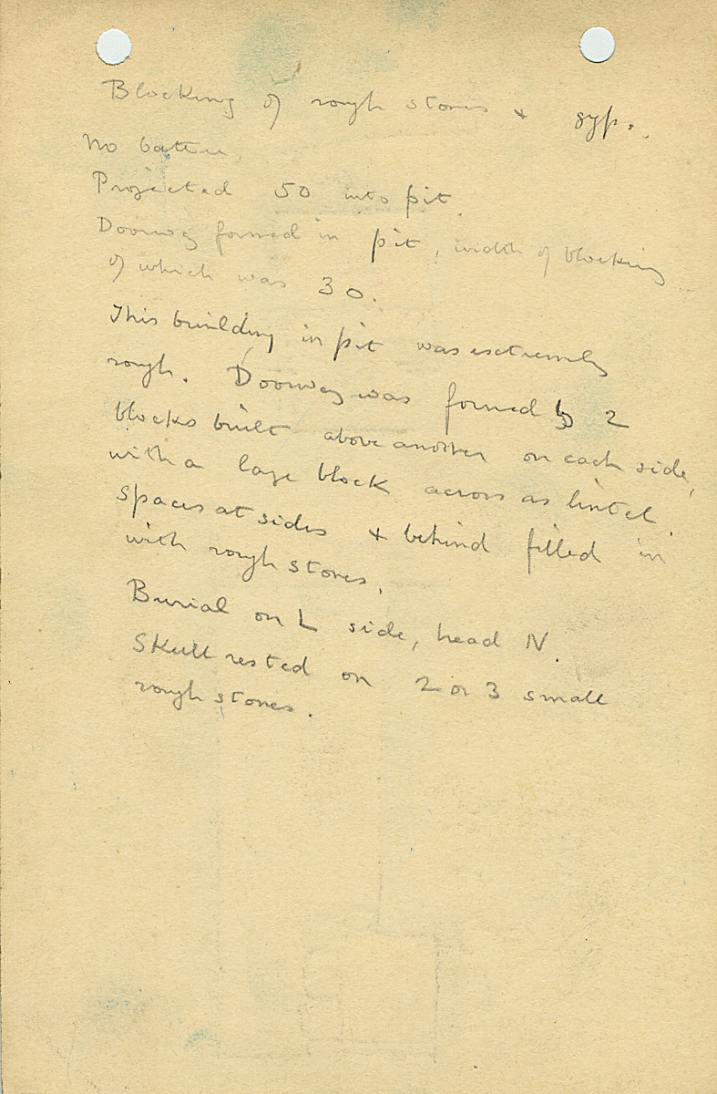 Notes: G 1155, Shaft K (II), notes