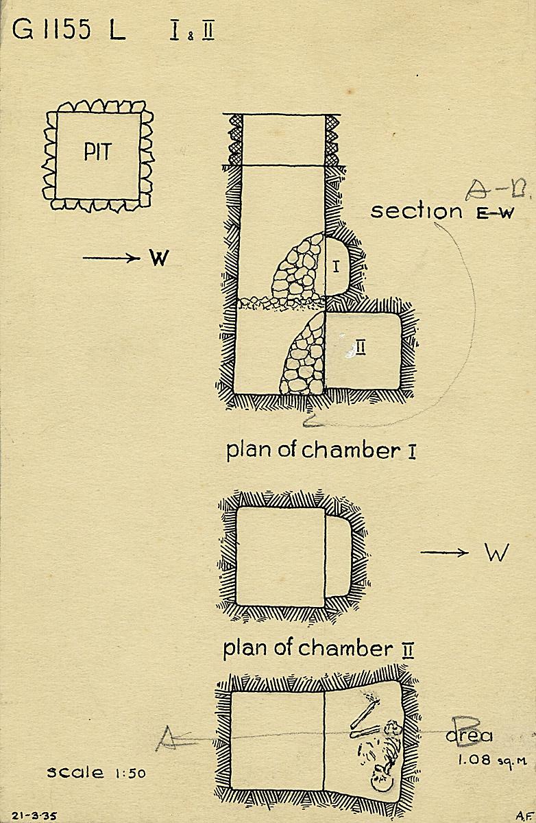Maps and plans: G 1155, Shaft L (I & II)