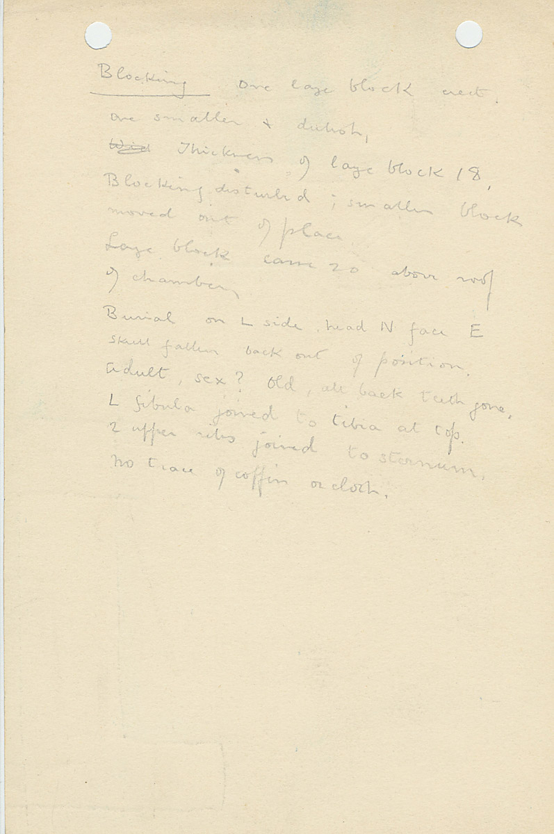 Notes: G 1156, Shaft B, notes