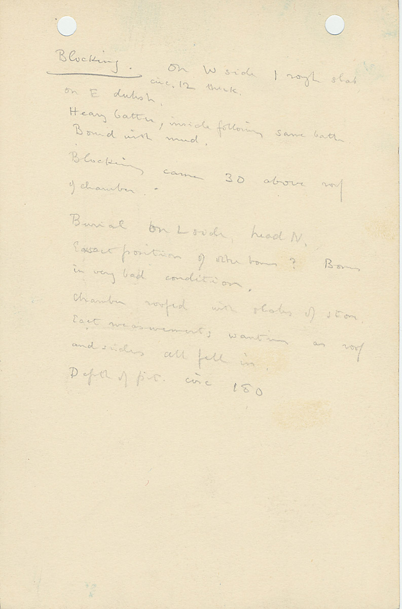 Notes: G 1156, Shaft D, notes