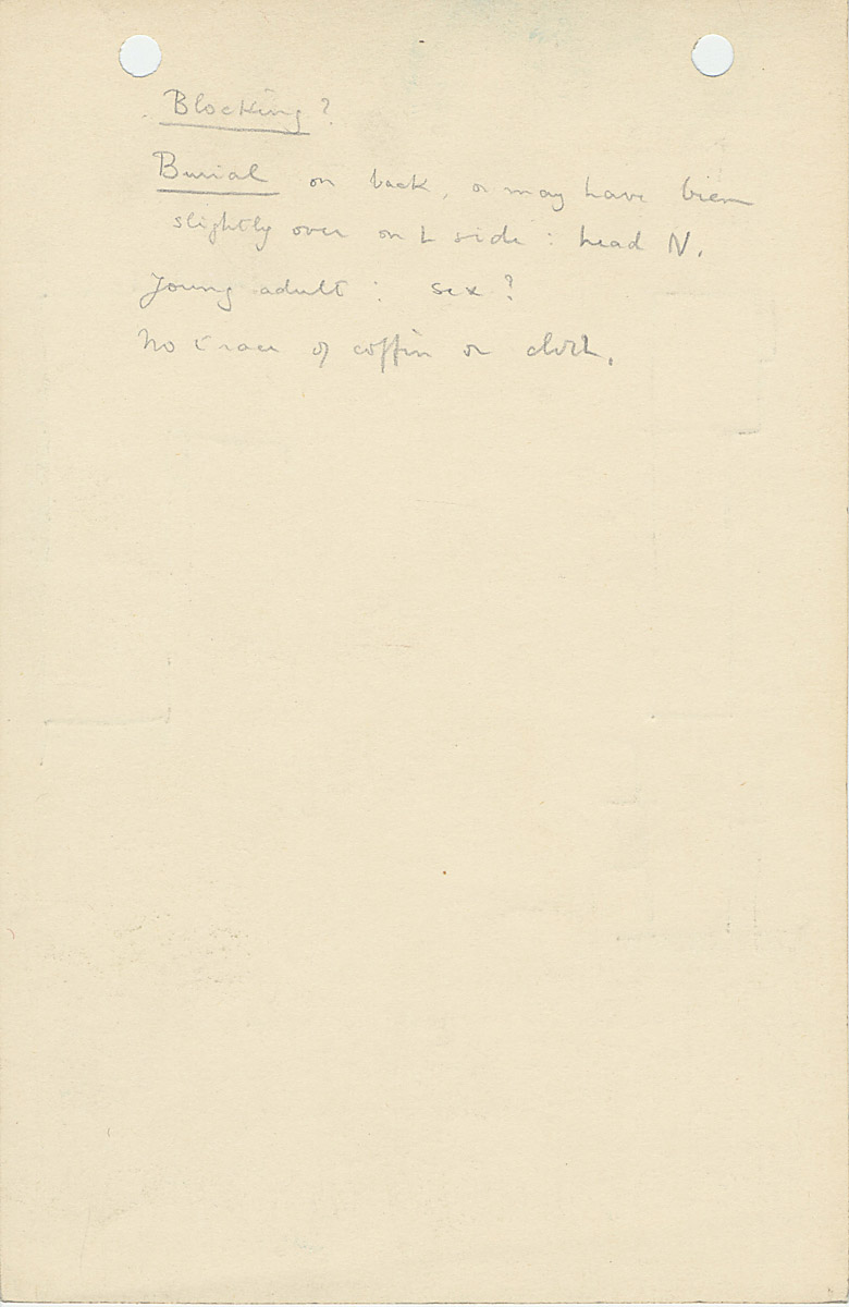 Notes: G 1156, Shaft V, notes