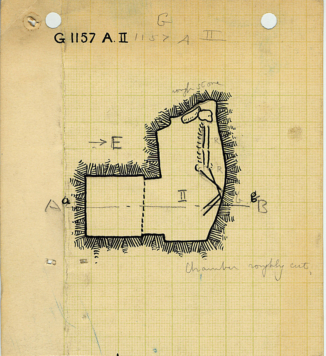 Maps and plans: G 1157, Shaft A (II)