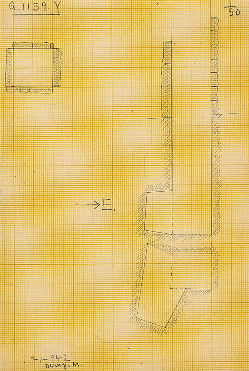 Maps and plans: G 1159, Shaft Y