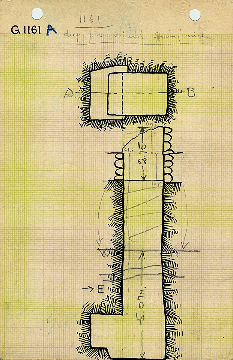 Maps and plans: G 1161, Shaft A