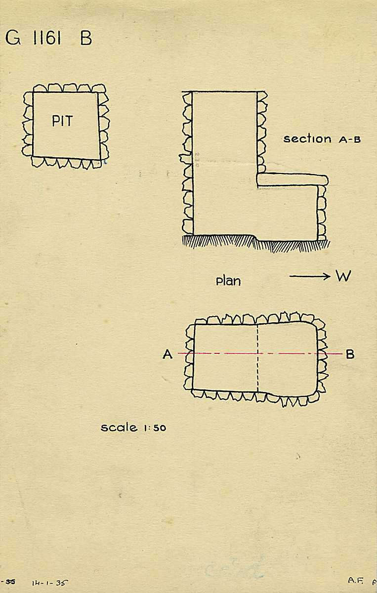 Maps and plans: G 1161, Shaft B