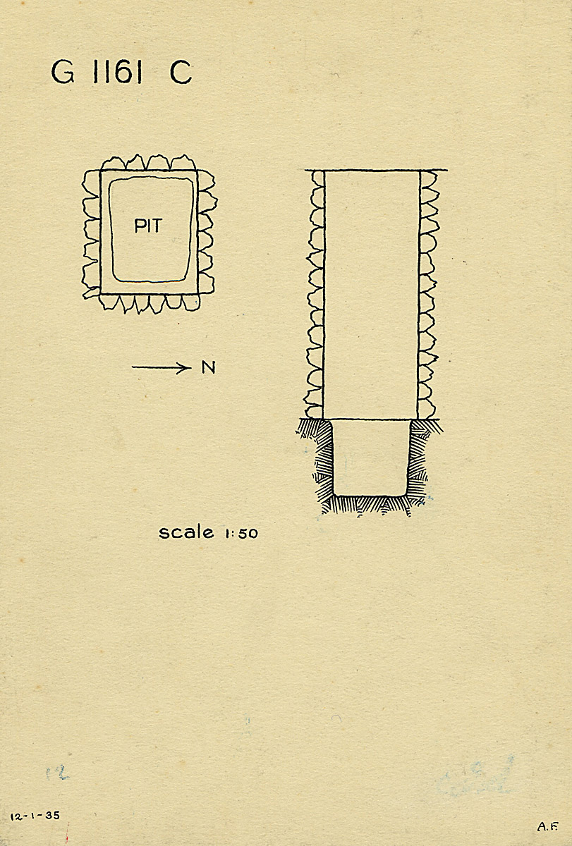 Maps and plans: G 1161, Shaft C