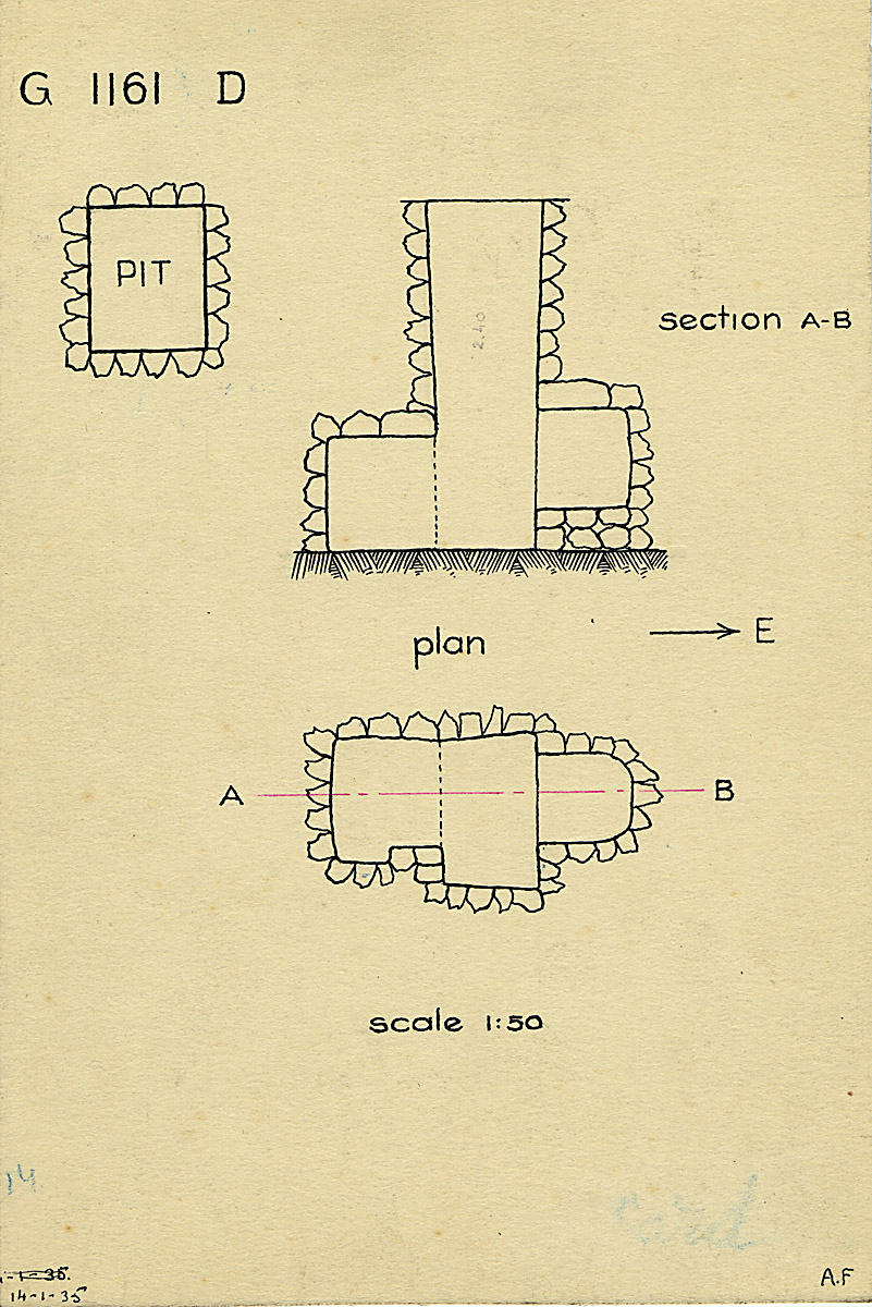 Maps and plans: G 1161, Shaft D