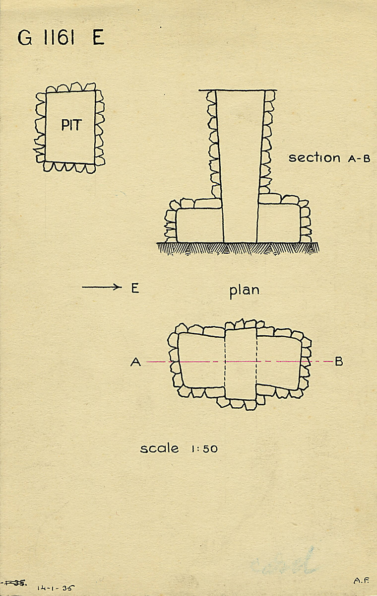 Maps and plans: G 1161, Shaft E