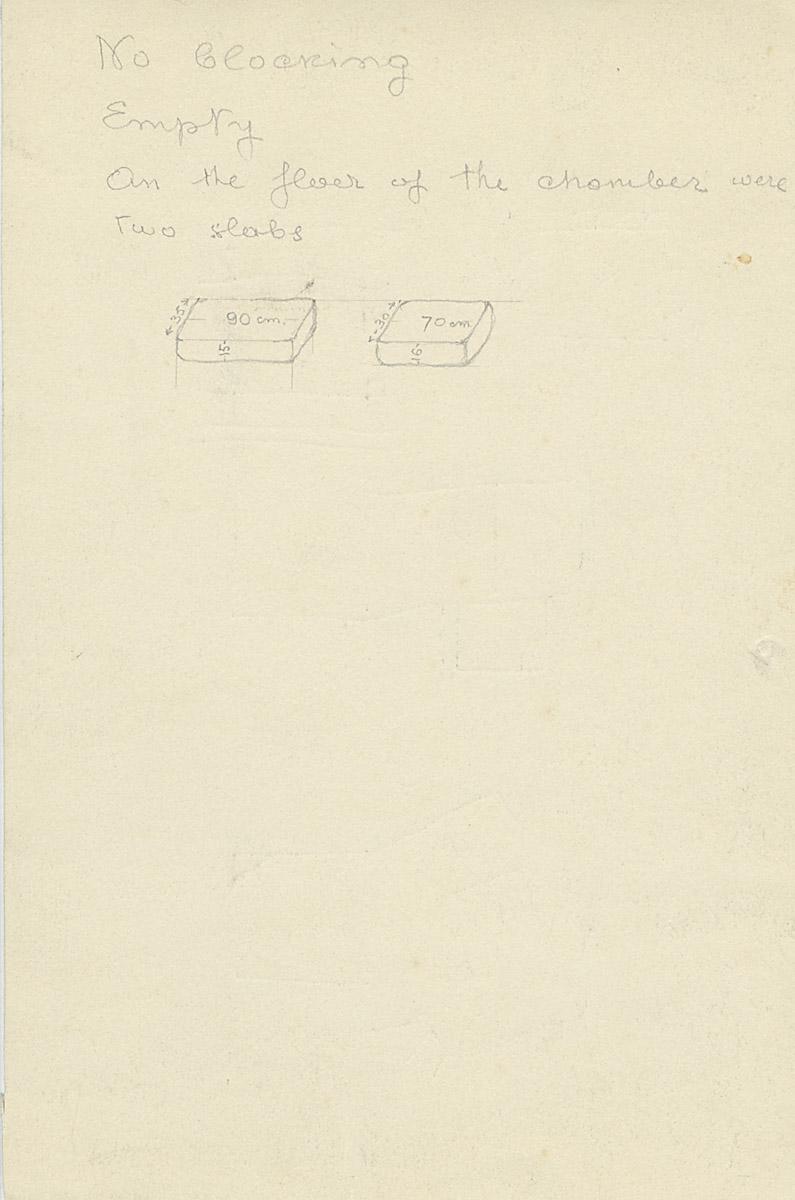 Notes: G 1168, Shaft B, notes
