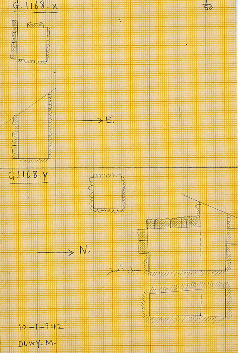 Maps and plans: G 1168, Shaft X and Y