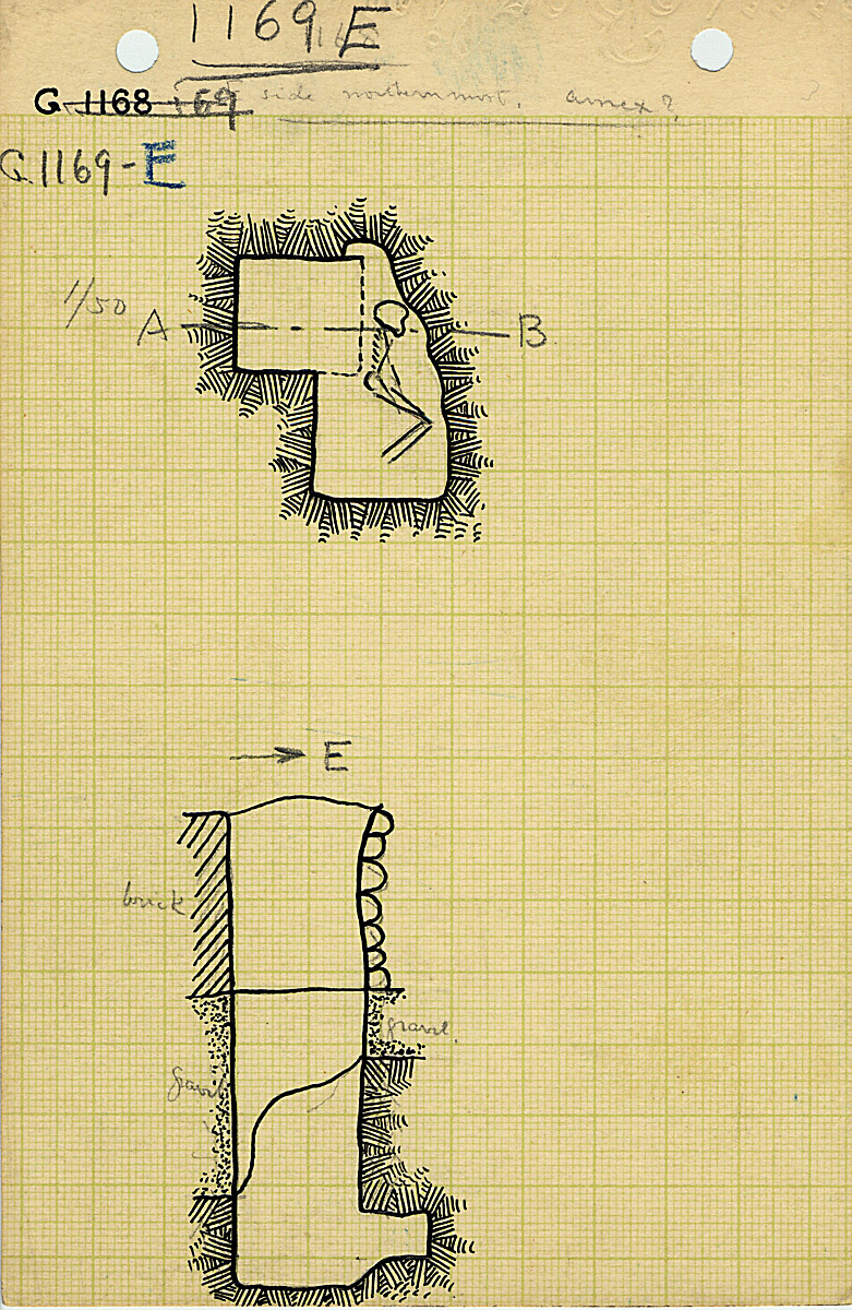 Maps and plans: G 1169, Shaft E