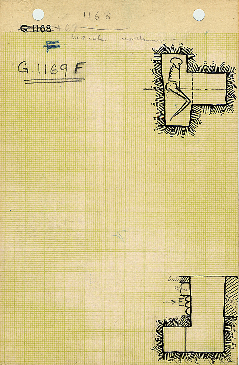 Maps and plans: G 1169, Shaft F