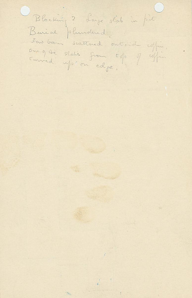 Notes: G 1174, Shaft B, notes