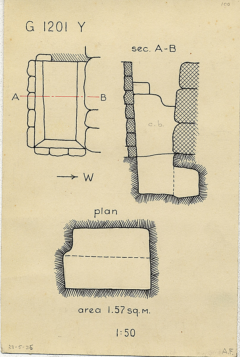 Maps and plans: G 1201, Shaft Y