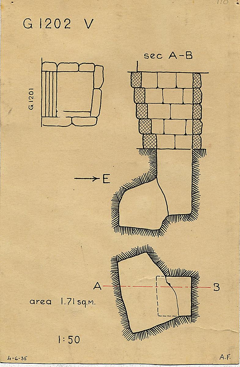 Maps and plans: G 1202, Shaft V