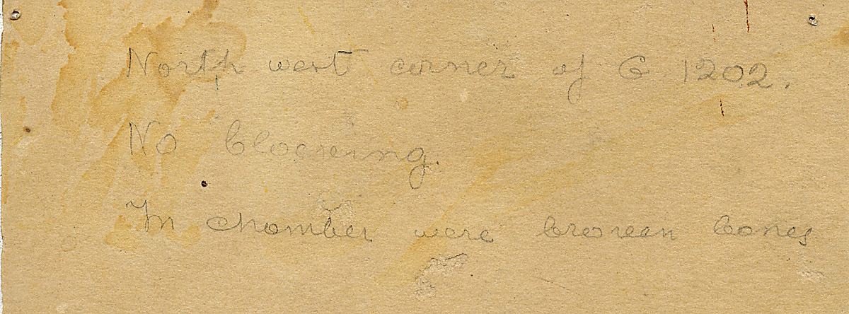 Notes: G 1202, Shaft V, notes